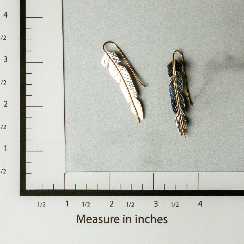 Feather Earrings - Edgecomb Potters