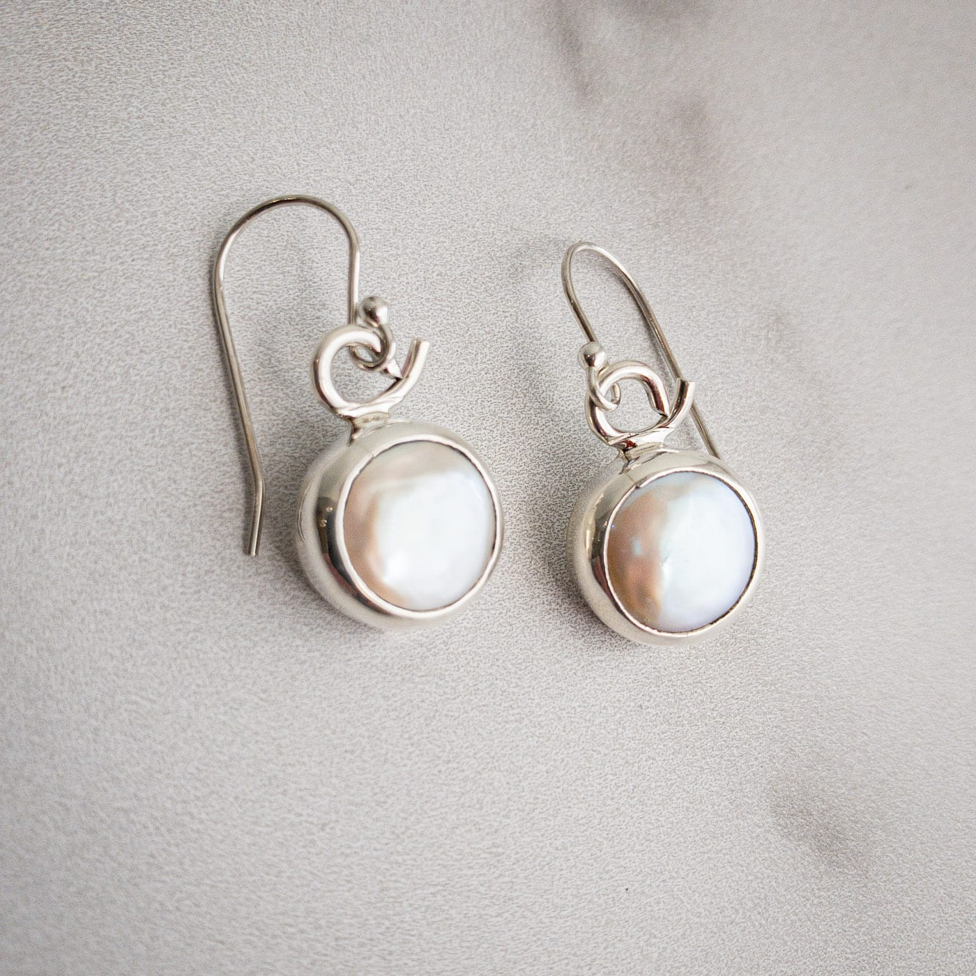 Coin Pearl Earrings 2 - Edgecomb Potters