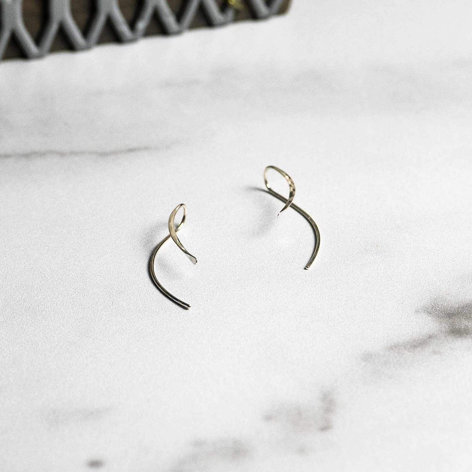 Sterling Silver Curved Earrings - Edgecomb Potters