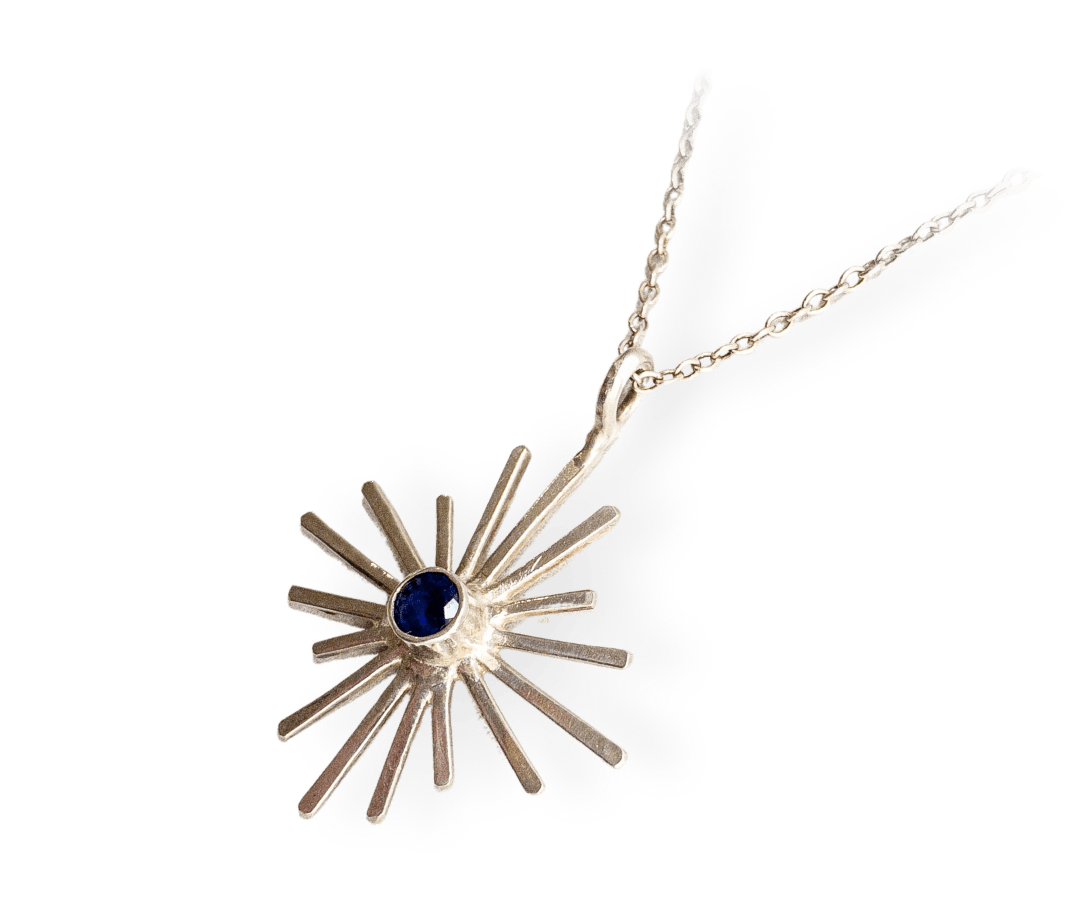Star Iolite Necklace s/s