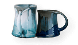 collection image mugs, steins, cups, pottery for tea and coffee