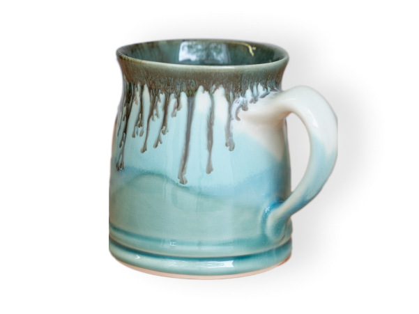 The Classic pottery mug shown in seaglass