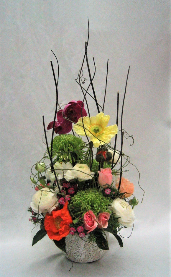 Stone pot arrangement