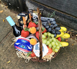Celebration hamper with wine