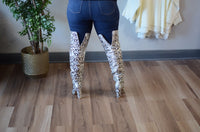 Silver Snakeskin Boots