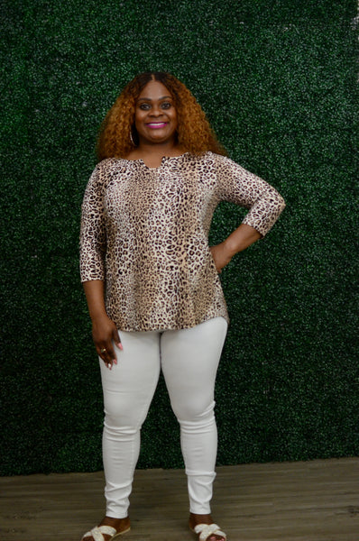 Madison Leopard Top