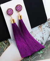 Swing earrings -Purple