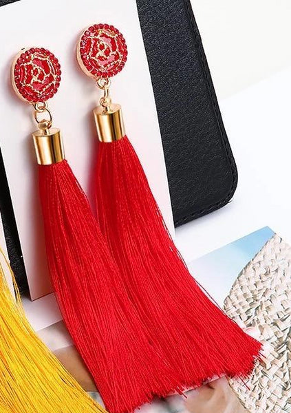 Swing earrings - Red