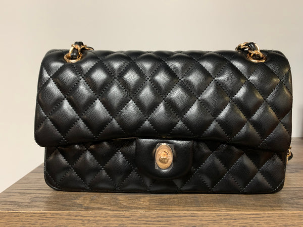 Quilted Double Flap handbag