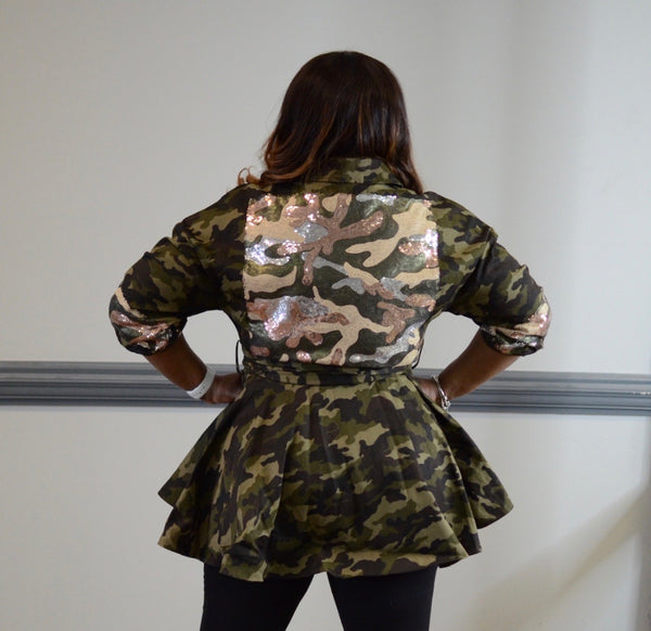 All That Glitters Camo Jacket