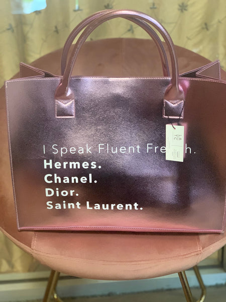 I Speak Fluent French Handbag