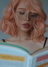 Pale Pink Wavy Bob Synthetic Wig CM197 - Wig Is Fashion Australia