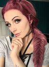 Two Tone Pinkish Red Fishtail Braid Lace Front Synthetic Wig LF2011 - Wig Is Fashion Australia