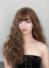Brunette Mixed Blonde Curly Synthetic Wig NS034