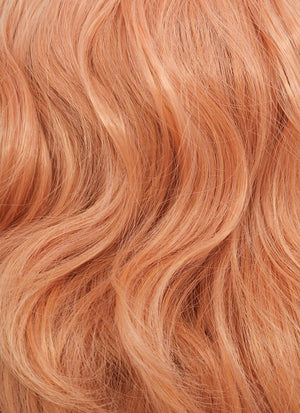 Pastel Peach Pink Wavy Bob Synthetic Wig CM197