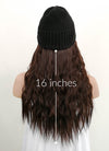 Black Beanie With Wavy Dark Brown Hair Attached CW006