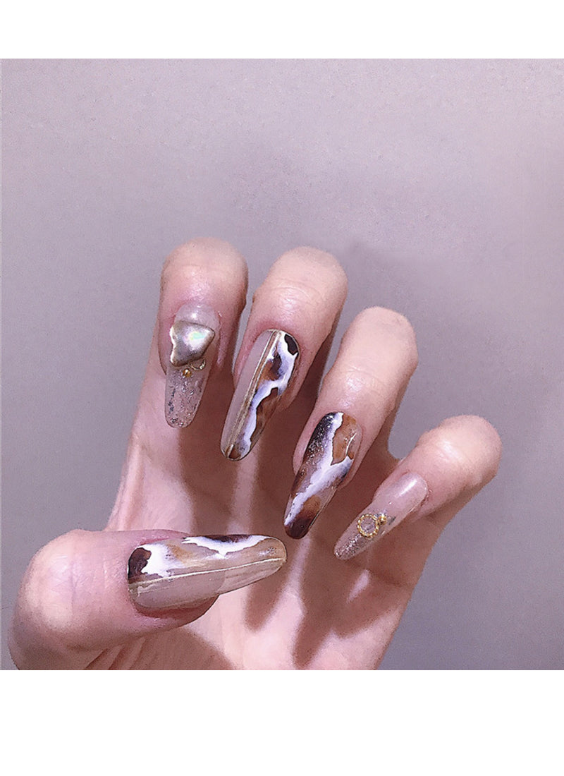 Almond Press-On Nails FN039