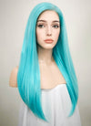 Straight Light Blue Lace Front Synthetic Wig LF036