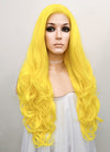 Wavy Golden Yellow Lace Front Synthetic Wig LF089
