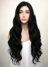 Wavy Jet Black Lace Front Synthetic Wig LF094