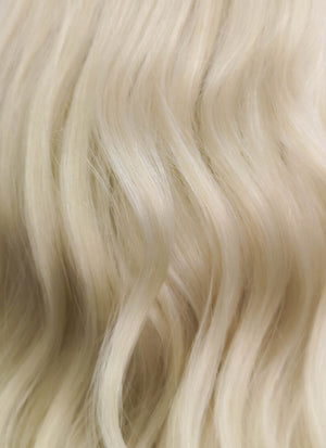 Light Ash Blonde Wavy Lace Front Synthetic Wig LF101A