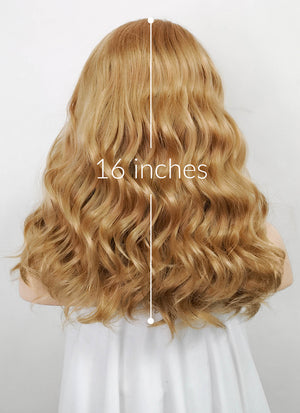 Golden Blonde Wavy Lace Front Synthetic Wig LF1266