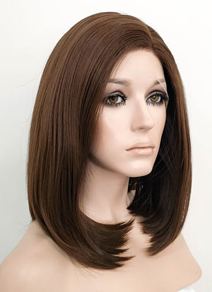 Brunette Straight Lace Front Synthetic Wig LF1295