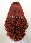 Auburn Wavy  Lace Front Synthetic Wig LF132
