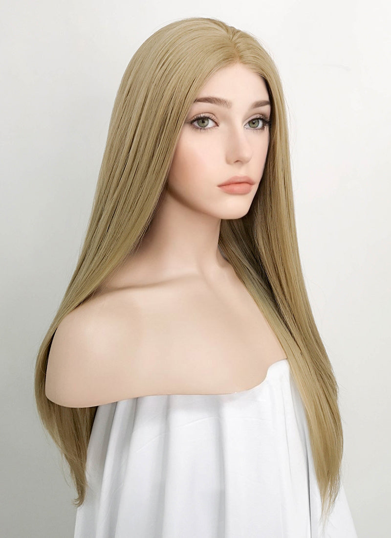 Blonde Straight Lace Front Synthetic Wig LF1739