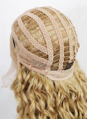 Blonde Wavy Lace Front Synthetic Wig LF174