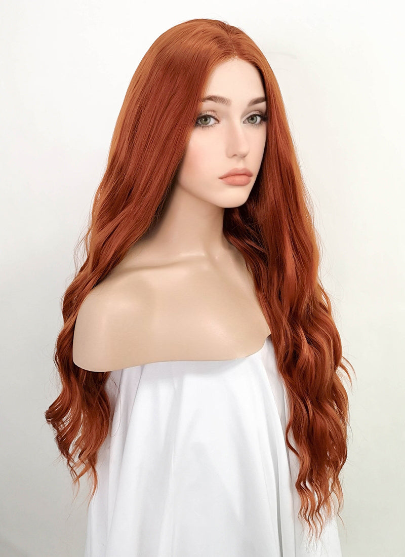Auburn Wavy Lace Front Synthetic Wig LF1765