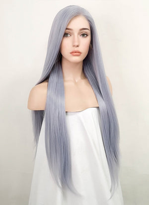 Pastel Lilac Straight Lace Front Synthetic Wig LF1774