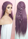 Purple Braided Lace Front Synthetic Wig LF2051