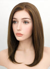Brunette Straight Bob Lace Front Synthetic Wig LF268
