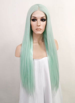 Pastel Green Straight Lace Front Synthetic Wig LF3149