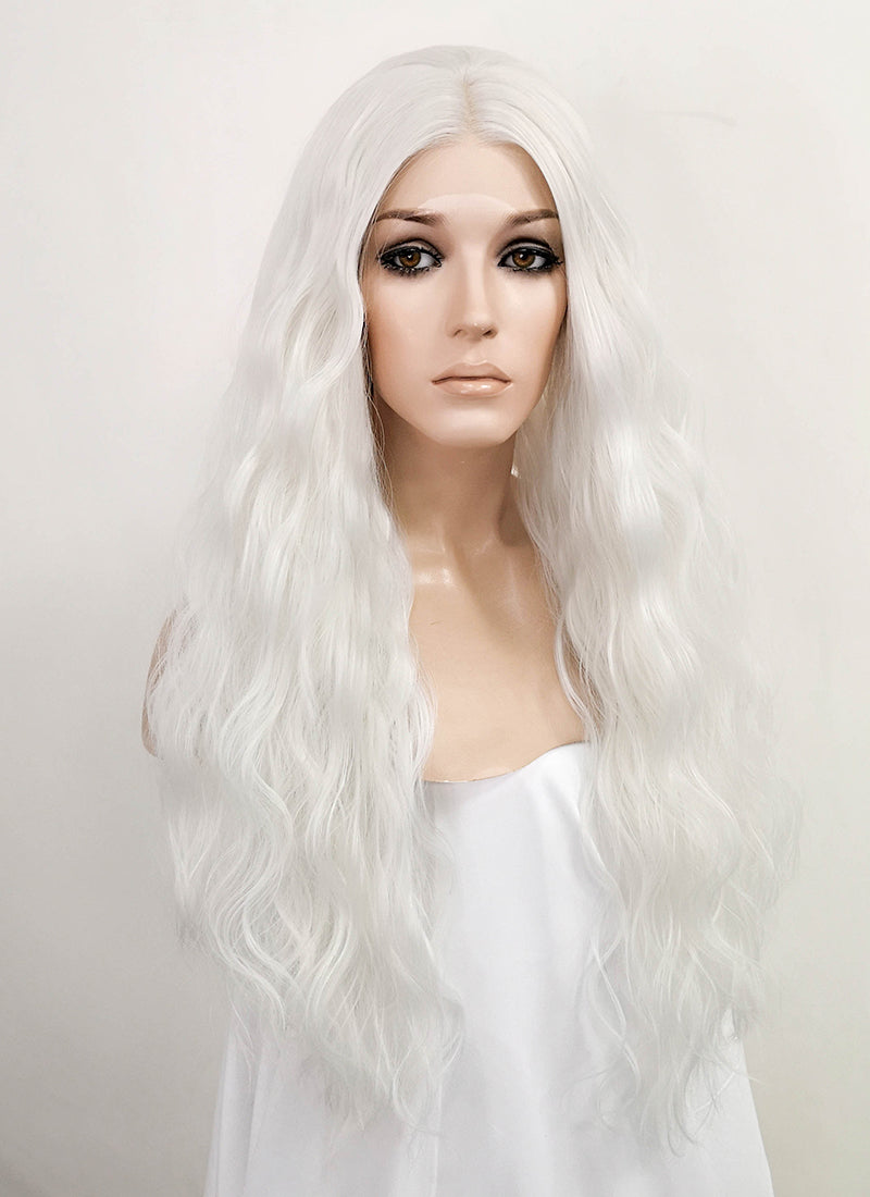 White Wavy Lace Front Synthetic Wig LF3153