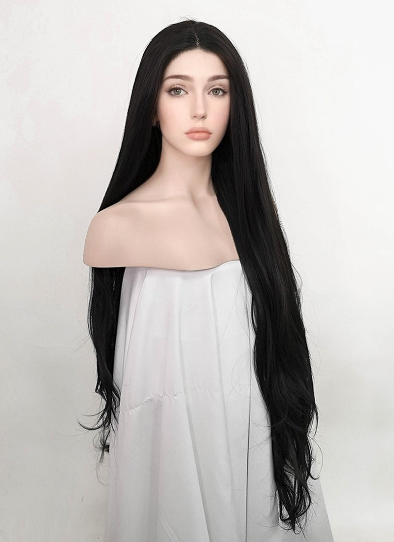 Black Wavy Lace Front Synthetic Wig LF3200
