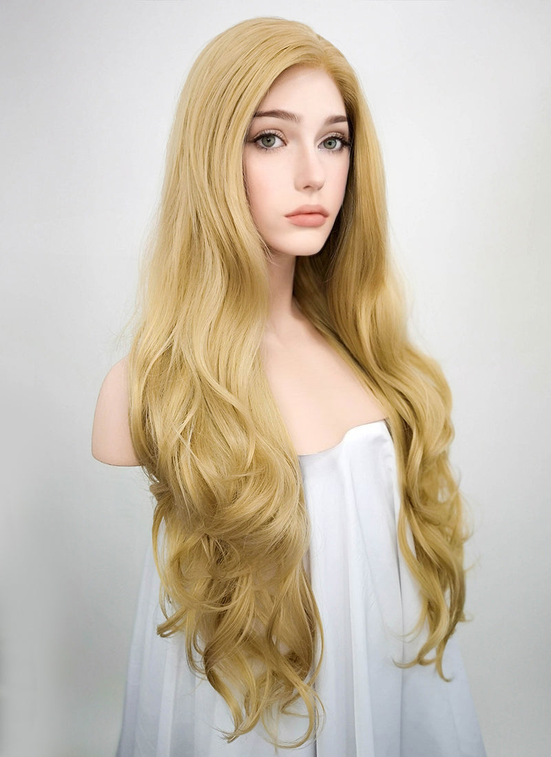 Wavy Blonde Lace Front Synthetic Wig LF323