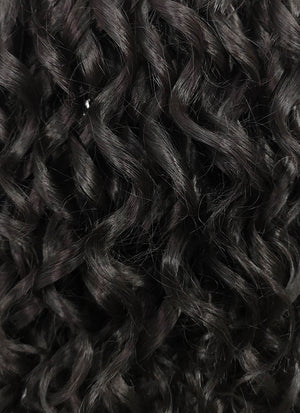 Black Curly Lace Front Synthetic Wig LF325