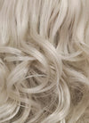 Pastel Blondish Grey Wavy Bob Lace Front Synthetic Wig LF369