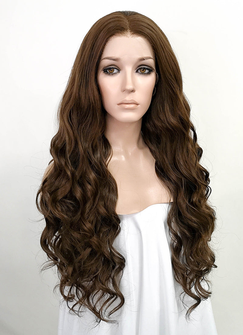 Brunette Wavy Lace Front Synthetic Wig LF5023