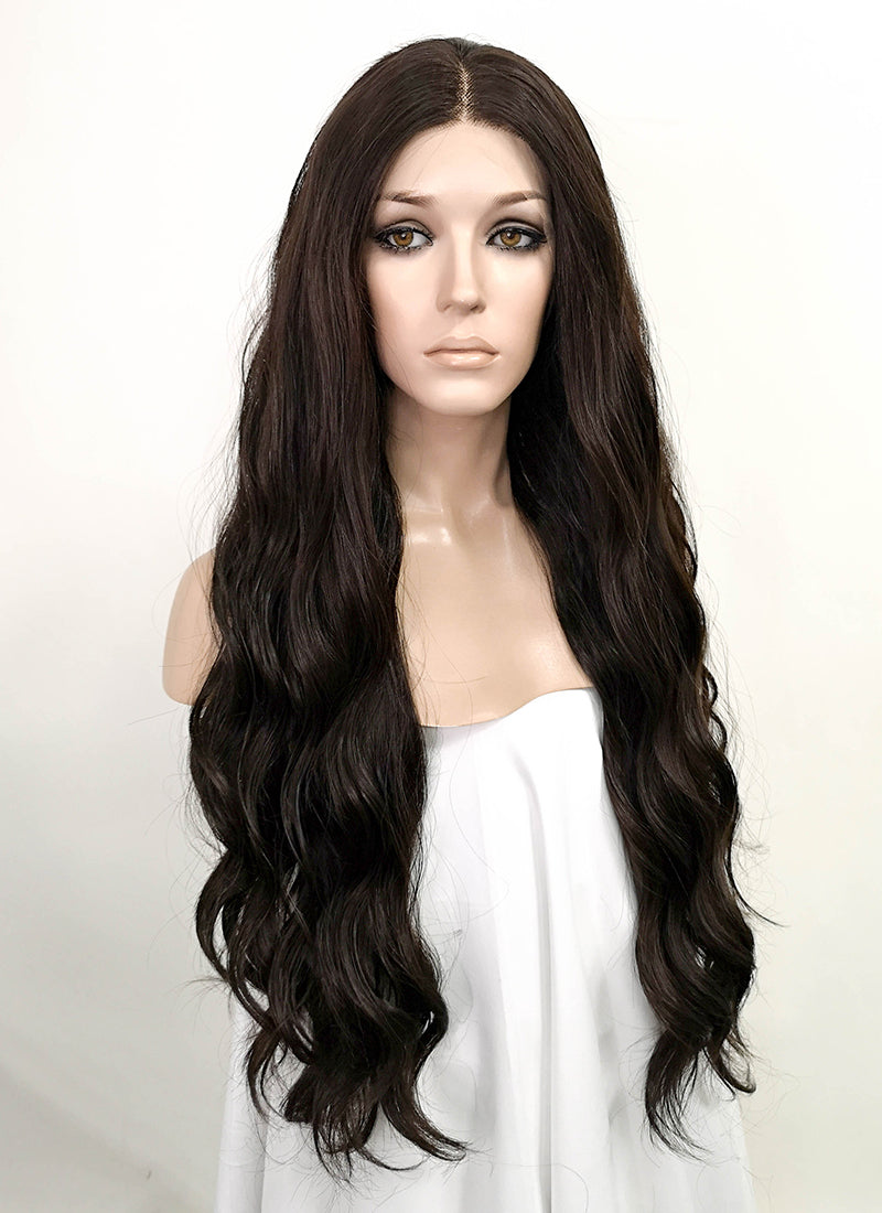 Brunette Wavy Lace Front Synthetic Wig LF5024