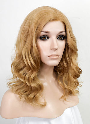 Blonde Wavy Bob Lace Front Synthetic Wig LF5028