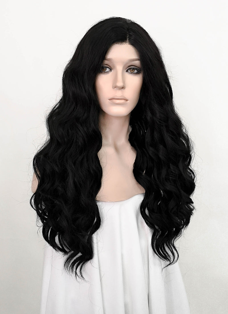 Black Wavy Lace Front Synthetic Wig LF5068