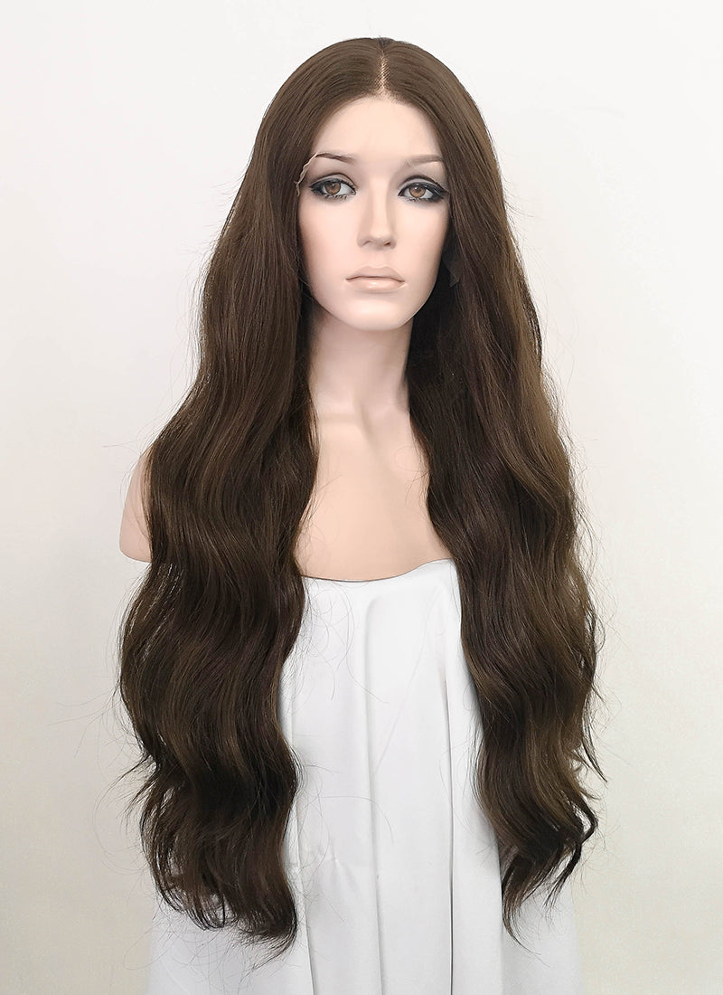 Brunette Wavy Lace Front Synthetic Wig LF5072