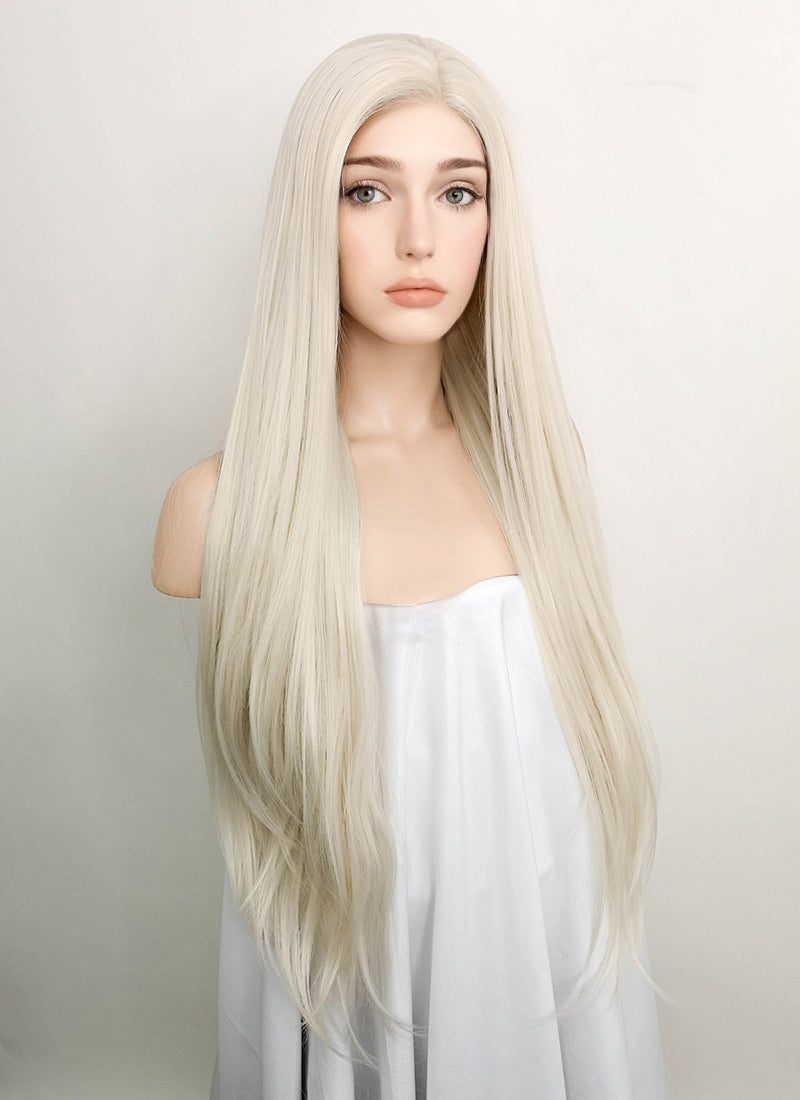 Light Blonde Straight Lace Front Synthetic Wig LF772