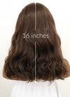 Dark Brown Wavy Lace Front Synthetic Wig LFB1265