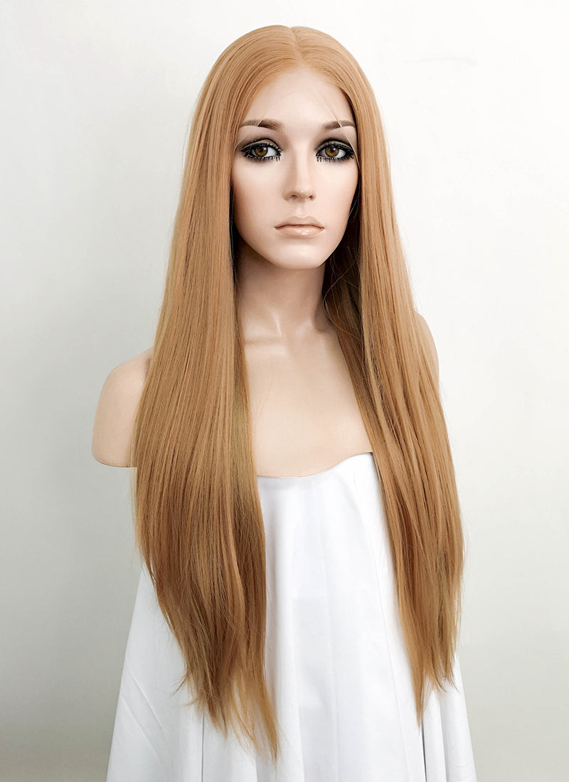 "Blonde Straight 13"" x 6"" Lace Front Synthetic Wig LFK5507"