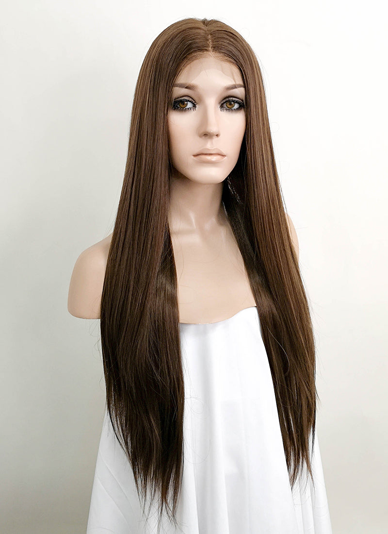 "Brunette Straight 13"" x 6"" Lace Front Synthetic Wig LFK5508"