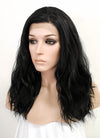 Black Wavy Bob Lace Front Synthetic Wig LFK5510B